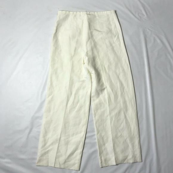 Armani Collezioni Pants - Armani Collezioni Pants Wide Leg White Cream